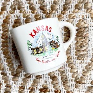 Vintage Kansas Ceramic Mug Coffee Cup USA